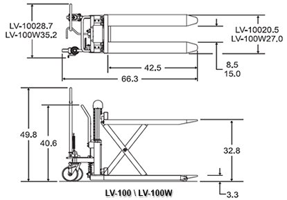 bishamon skidlift lv 100 top and side view