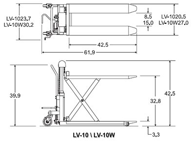 bishamon skidlift lv 10 top and side view
